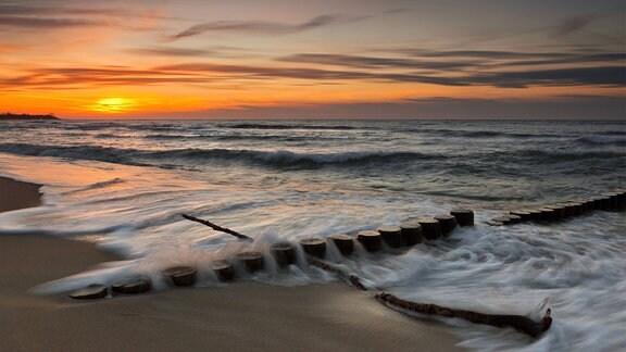 Sonnenuntergang über der Ostsee bei Ahrenshoop
