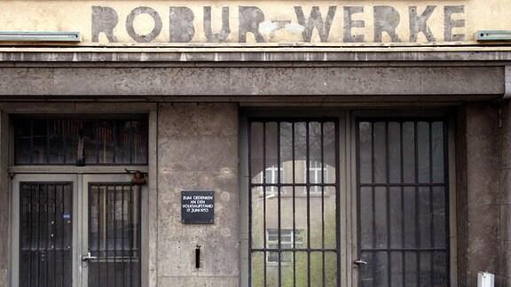 Zufahrt zum ehemaligen Robur-Werk in Zittau.