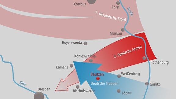 Schlacht um Bautzen im April 1945