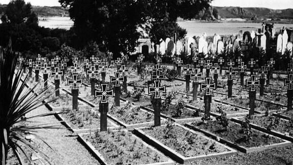 Deutscher Soldatenfriedhof auf Jersey 1945