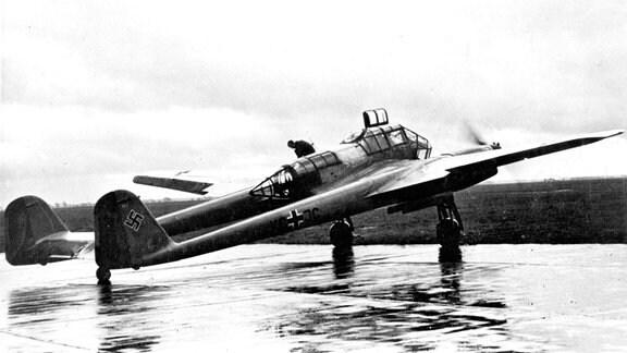 Nahaufklärrer Focke-Wulf Fw 189 Uhu der Luftwaffe auf Flugplatz in Norwegen