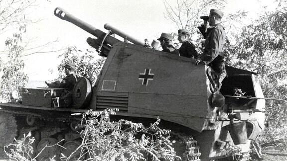 Selbstfahr-Haubitze Wespe der Wehrmacht