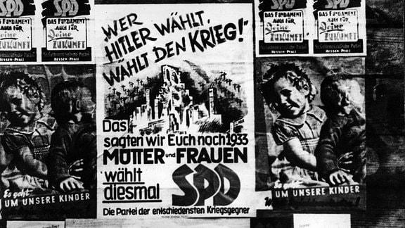 SPD-Wahlplakat von 1946