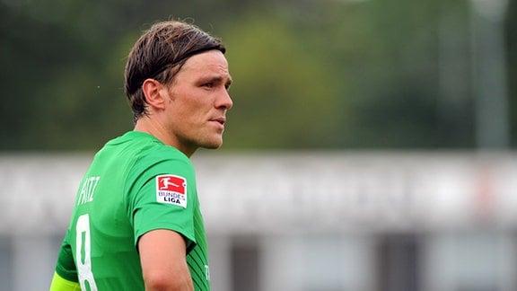 Bremens Clemens Fritz, aufgenommen am 12.07.2011 im Erfurter Steigerwaldstadion im Rahmen des Testspiels von Rot Weiß Erfurt und Werder Bremen.