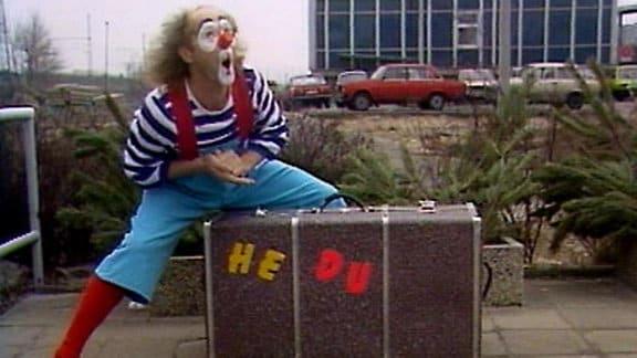 Clown Hampel mit He-du-Koffer