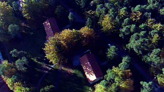 Luftaufnahme der Wohnsiedlung Wandlitz