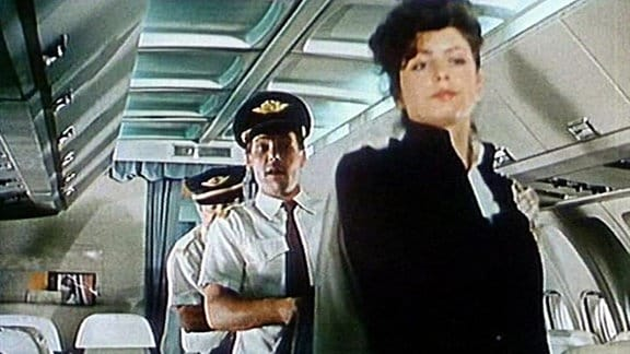 "Die Film-""Flugzeugcrew"" an Bord"