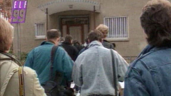 Journalisten in der Waldsiedlung Wandlitz