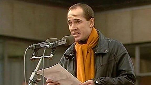 Ulrich Mühe am 4.11.1989 in Berlin