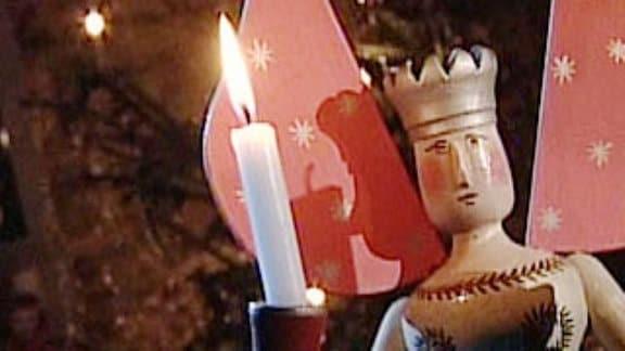 Lichterengel mit Kerzen.
