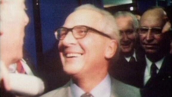 Erich Honecker auf der Leipziger Messe 1979
