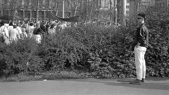 Jugendlicher 1987 in Leipzig