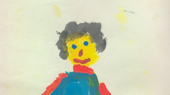 Kinderbild von Katharina Handy mit einer Friseurin