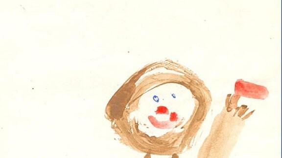 Fanny, 4 Jahre: Ich mit Fahne zum 1. Mai (1984)