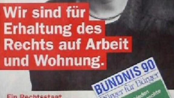 Wahlplakat des Bündnis 90