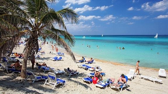 Strand auf der Halbinsel Varadero, Nordküste, Matanzas, Kuba