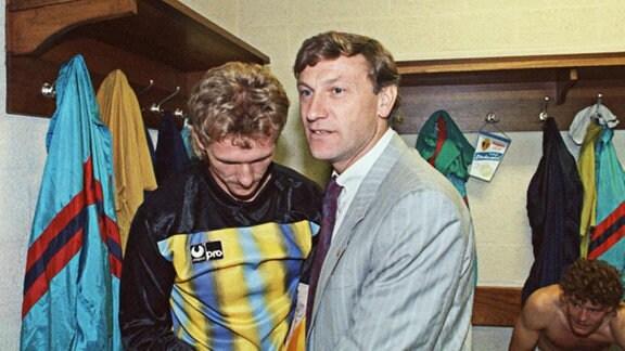 Eduard Geyer und Jens Adler, 1990