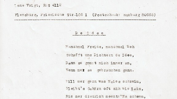 """Gedicht:""""De Idee"""" von Lene Voigt"""