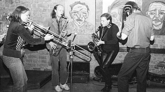 Jazz-Session in der Moritzbastei Mitte der 1980er-Jahre