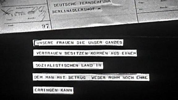 Solidaritätsbekundung für die disqualifizierten DDR-Rennrodlerinnen 1968
