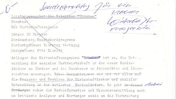 Beschreibung Umschau-Redaktionsauftrag