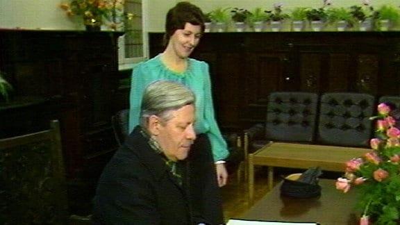 Schmidt und Honecker besuchen Güstrow