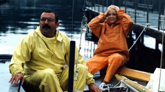 Flugstaffel Meinecke Siebenteilige Fernsehserie 1989 5. Höhenflug  Bild: Szene mit GŁnter Schubert und Karin Ugowski