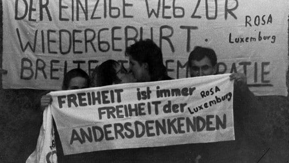 Luxemburg-Liebknecht-Demo am 17.01.1988