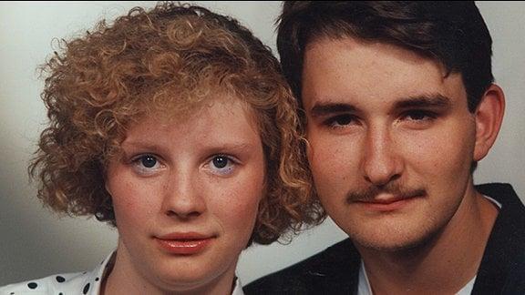 Thomas Tschirner und seine Freundion und spätere Frau  Jugendliebe Sylke im Jahr 1991.