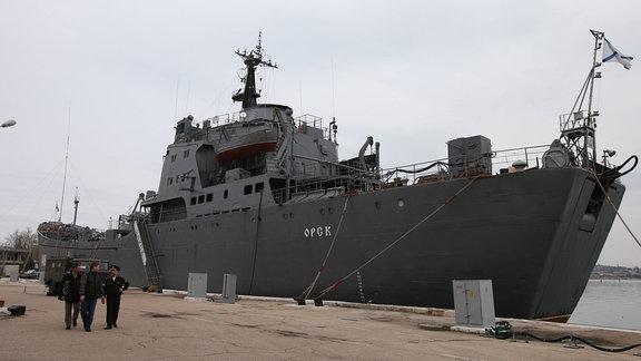 Ein Schiff der Russischen Schwarzmeerflotte.