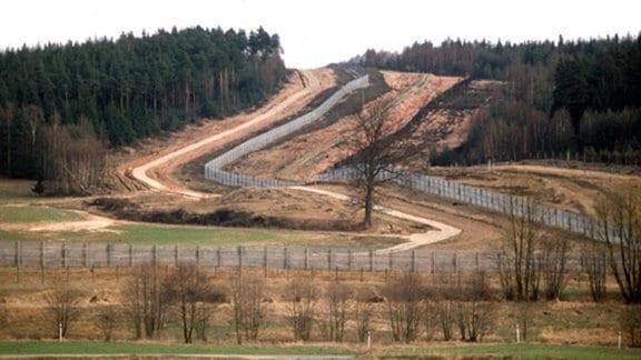 Grenzschneise bei Görsdorf bei Sonneberg 1984/2010