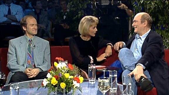 Waldemar Cierpinski, Christiane Jörges und Heinz Florian Oertel