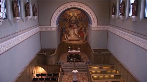 Innenansicht der Heilandskirche in Sacrow