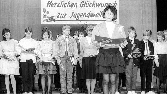 Letzte Jugendweihe in Anklam, DDR 1990