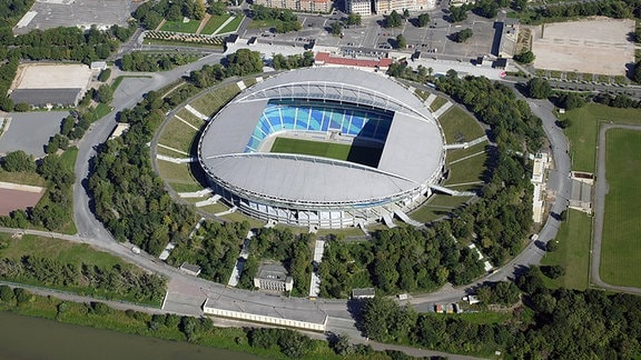 Die Red Bull Arena in Leipzig