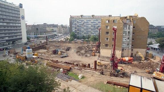 Blick auf eine Baustelle