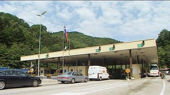 Ein kroatisch-slowenischer Grenzübergang