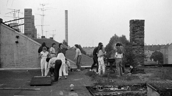 Dachparty in den 1980er-Jahren in Leipzig