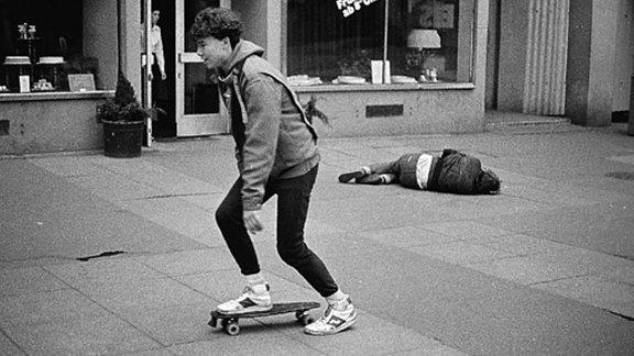 Skateborder in der 1980er-Jahren