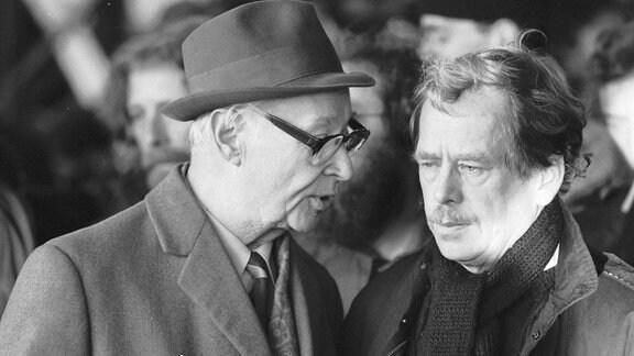 Alexander Dubcek und Vaclav Havel