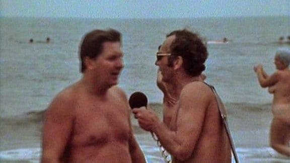 Außenseiter, Spitzenreiter bei Umfrage an einem FKK-Strand