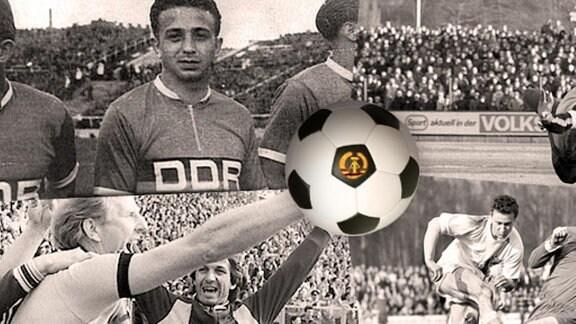 Alte Fußball-Fotos von Dynamo Dresden, Wismut Aue, Rot-Weiß Erfurt und dem FC Karl-Marx-Stadt