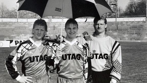 (v.l.n.r) Marcel Wöhlbier, Roland Nowotny und Jens Adler vom HFC.