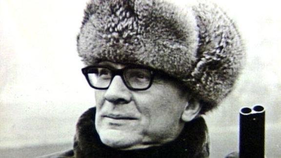 Erich Honecker auf der Jagd