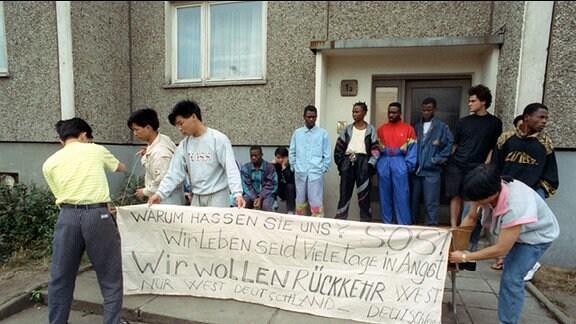 Ausländer fordern Verlegung in Hoyerswerda