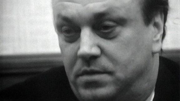 Kurt Masurs Gesicht in Nahaufnahme