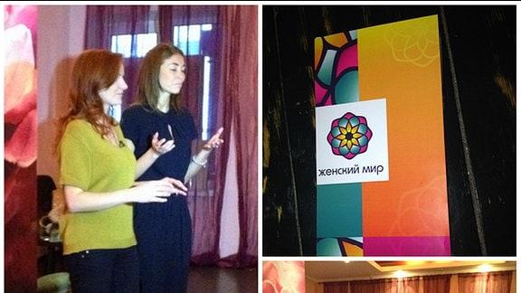 Frauen in russischen Luderschulen.