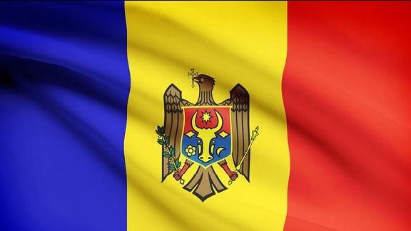 Flagge von Republik Moldau Moldawien.