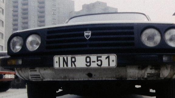 Die Front eines Dacias