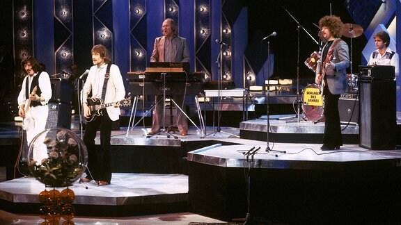 Die Puhdys 1978 auf einer Bühne